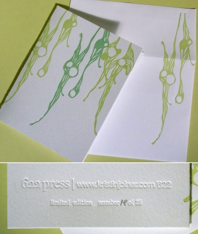 Limited Edition 'Marine' Letterpress Notecard