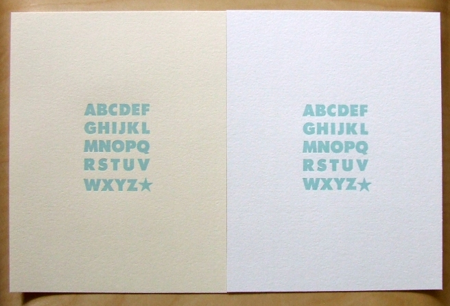 Limited Edition 'ABCs' letterpress print