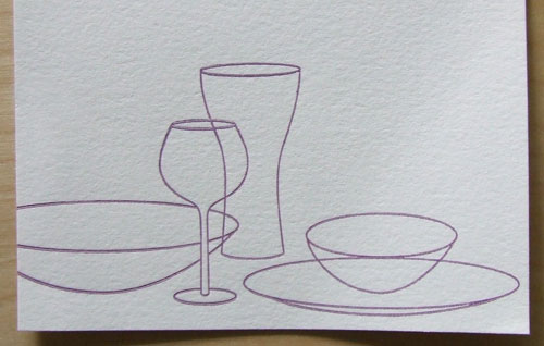 """Tablescape"" notecard"