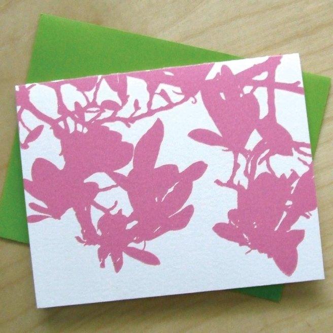 Magnolia Letterpress notecards