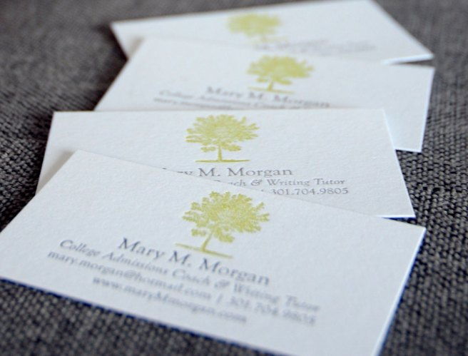 Business cards by 622 press