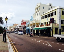 Lest you think Bermuda is just beaches and palm trees... This is Front Street, the main drag of the city of Hamilton