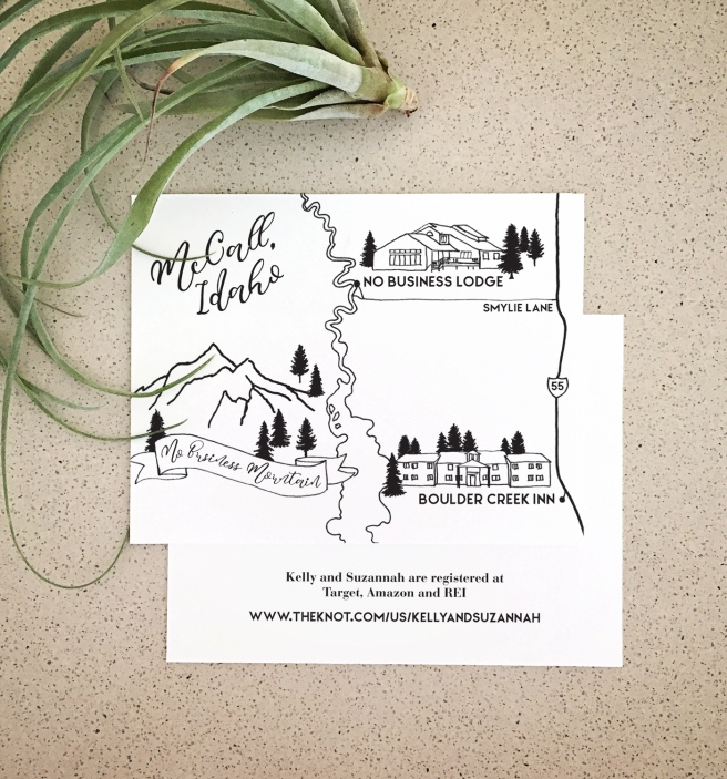 Custom Wedding Map – 622 press | LETTERPRESS GOODS MADE BY HAND on